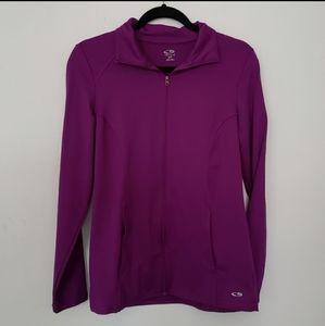 Champion purple zip stand collar sweater jacket
